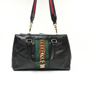 Auth Gucci Sylvie Hand Bag Leather #7854G67